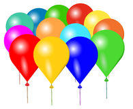 Colorful balloons. Vector illustration of colorful balloons on white background Royalty Free Stock Photos