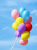 Colorful Balloons against sky Stock Photography