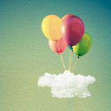 Colorful Balloons. Against sky - birthday decoration Royalty Free Stock Images
