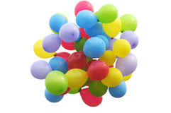 Colorful balloons in the air Stock Images
