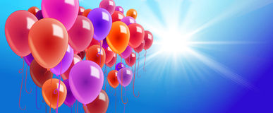 Colorful balloons in the air Stock Photography
