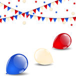 Colorful balloons in american flag colors Royalty Free Stock Images