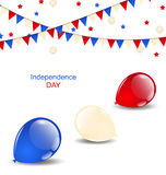 Colorful balloons in american flag colors Stock Photo