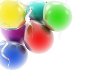Colorful balloons as a background. Colorful 3d balloons as a background Stock Photography