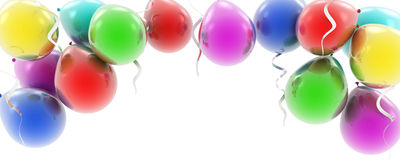 Colorful balloons as a background Royalty Free Stock Photo