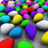 Colorful Balloons Background Stock Images