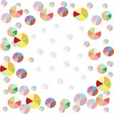 Colorful balloons background stock illustration