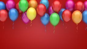 Colorful  balloons background. Colorful party balloons 3d illustration Stock Images