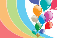 Colorful balloons Background. Designing has been a , which consist of colored balloons background. For the occasion Stock Photos