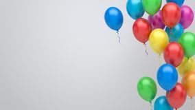 Colorful balloons background. Colorful party balloons 3d illustration Stock Photography