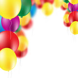 Colorful balloons background. Colorful party balloons on white background Royalty Free Stock Photography