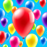 Colorful balloons background vector Royalty Free Stock Photography