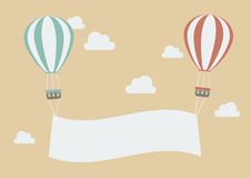 Colorful balloons with banner Royalty Free Stock Images
