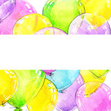 Colorful balloons and Birthday background Stock Photos