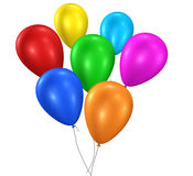 Colorful Balloons Birthday Party Stock Photos