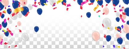 Colorful Balloons. Birthday, Party, Presentation, Sale, Anniversary and Club Design , Happy Banner. Vector illustration stock illustration
