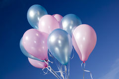 Colorful balloons and blue sky Royalty Free Stock Images