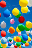 Colorful balloons on the blue sky Stock Photo