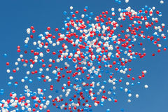 Colorful balloons on the blue sky background. Balloons on the blue sky background Royalty Free Stock Photo