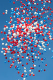Colorful balloons. Balloons on the blue sky background Stock Image