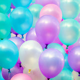 Colorful balloons in blue sky and clouds Royalty Free Stock Photography