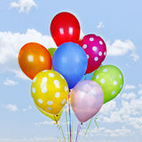 Colorful balloons on blue sky Royalty Free Stock Image