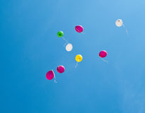 Colorful balloons on the blue sky Royalty Free Stock Image