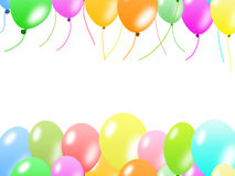 Colorful balloons border Stock Photo