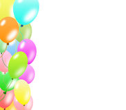 Colorful balloons border Stock Photos