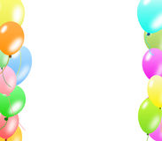 Colorful balloons border Royalty Free Stock Photos