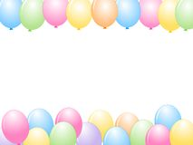 Colorful Balloons border / Party frame stock illustration