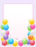Colorful Balloons border / Party frame vector illustration