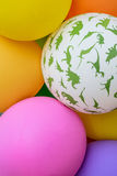 Colorful balloons in a bunch Stock Images