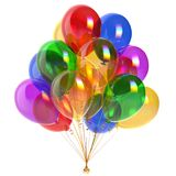 Colorful balloons bunch party decoration multicolored Royalty Free Stock Images