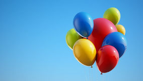 Colorful Balloons with Clipping Path Stock Image