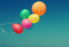 Colorful balloons. Close up of colorful balloons Stock Photo
