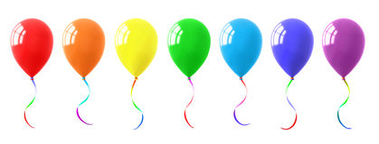 Colorful Balloons Collection Royalty Free Stock Photo