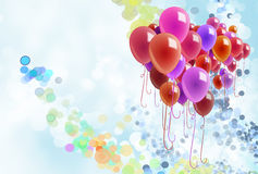 Colorful balloons and confetti Royalty Free Stock Image