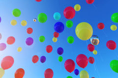 Colorful Balloons. Conlorful Balloons fly to sky Stock Photography