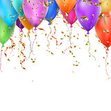 Colorful balloons and copyspace. EPS 10 Royalty Free Stock Image