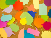 Colorful Balloons (Cork Board Background) Royalty Free Stock Photography