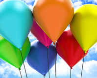 The colorful balloons Royalty Free Stock Image