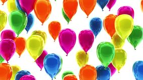 Colorful Balloons 3d animation stock video footage