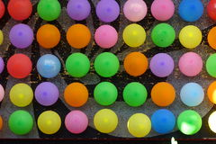 Colorful balloons in detail as a background Stock Photo