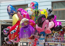 Colored balloons with famous cartoon characters of Walt Disney- Brasov, Romania Stock Images