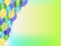 Colorful balloons. Festive colorful balloons background illustration Stock Photos