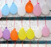 Colorful Balloons Filed with Water Royalty Free Stock Photos