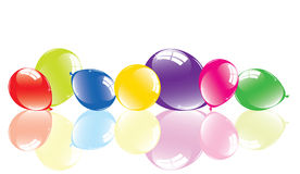 Colorful balloons on the floor Royalty Free Stock Image