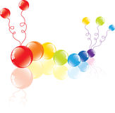 Colorful balloons on the floor Stock Image