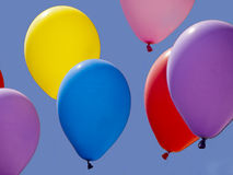 Colorful balloons flying Royalty Free Stock Image